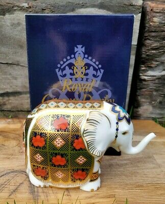 Royal Crown Derby 'SMALL IMARI ELEPHANT' Paperweight. Excellent Condition. • 139£