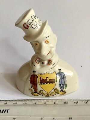Rare 1908 Antique ALLY SLOPER Figural Arcadian China Figure: GOOD HEALTH OLD MAN • 34.50£