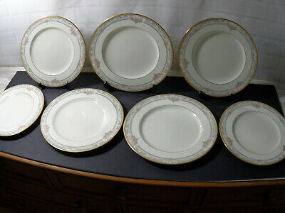 7 X Large Dinner Plates By Noritake - Pattern Barrymore 9737 Made In Japan • 24.99£