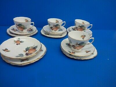 Royal Vale Part Tea Set  -  Orchard Fruits Design  -  16 Pieces • 20£