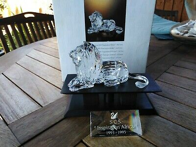 Swarovski Crystal Inspiration Africa Lion With Stand And Plaque BNWT • 110£