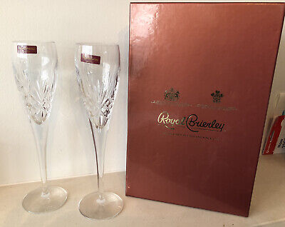 Royal Brierley Champagne Flutes • 25£