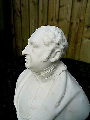 Antique 19thc Worcester Biscuit Bust Of The Duke Of York- Brother Of George Iv  • 135£
