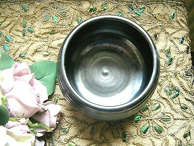 Prinknash Pottery Sugar Bowl Pewter • 3.99£