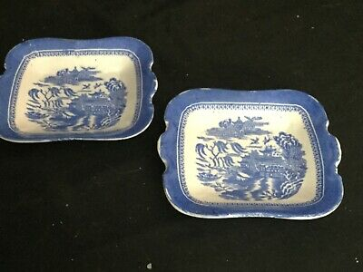 Antique Copeland 2 Small Dishes / Dolls Tea Set Plates Blue & White 1892  • 0.99£