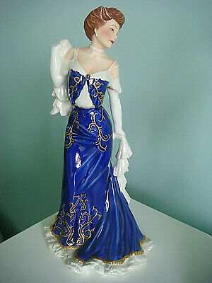 Franklin Mint Porcelain  Figurine-elegance De Paris • 30£