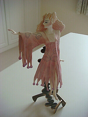 Rare L/e Albany Fine China Of Worcester Figurine-by Zandra Rhodes-pink Butterfly • 250£