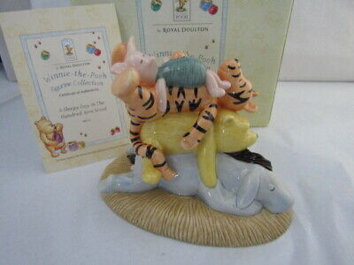 Rare Doulton Winnie Pooh Sleepy Day In Hundred Acre Wood Wp53 Disney Classic • 34.95£