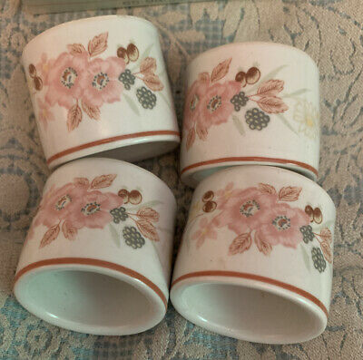 Boots Hedge Rose, Set Of 4 Napkin Rings, New In Box • 7.99£