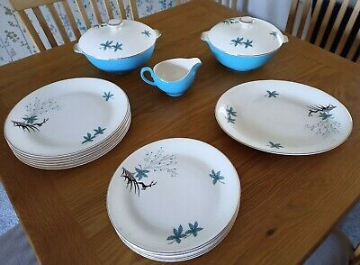 Alfred Meakin Leaping Stag Blue Dinner Set • 50£