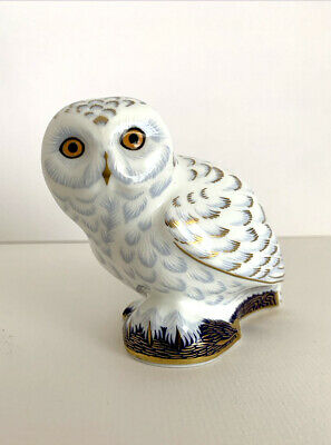 Royal Crown Derby Paperweight Limited Edition Collectors Guild Snowy Owl • 69.95£