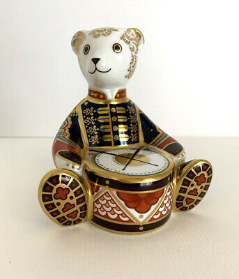 Royal Crown Derby Paperweight Drummer Bear With Gold Stopper • 79.95£