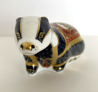 Royal Crown Derby Paperweight Exclusive Collectors Guild Moonlight Badger • 79.95£