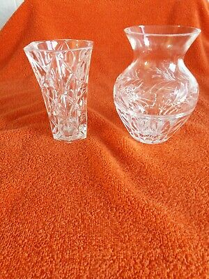 Greatly Reduced !! 2  Crystal Vases • 25£