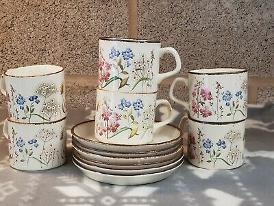 J & G Meakin Lifestyle Wayside Cups And Saucers X 6 • 20£