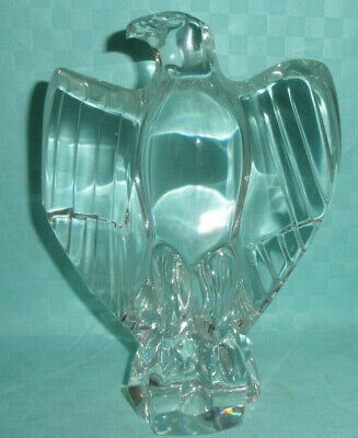 Baccarat Crystal Eagle Statue, 7  Tall, Excellent • 100£