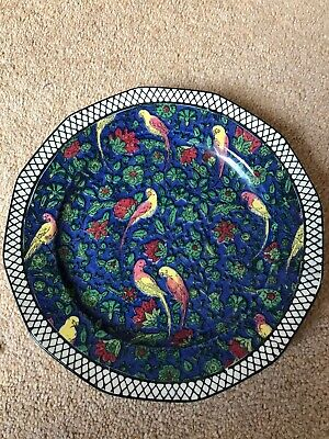Antique Art Deco Royal Doulton Persian Parrot Plate D4031 • 40£