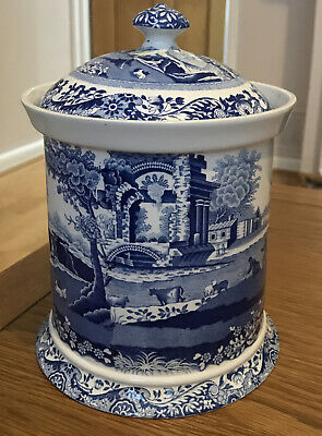 SPODE Blue Italian Biscuit Barrel  • 39.99£
