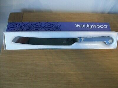 Rare, Highly Collectible. Wedgwood Blue Jasperware 8  Brides Cake Knife. Perfect • 5£