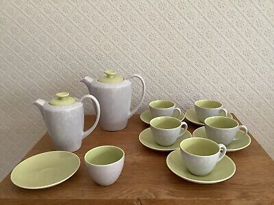 Poole Pottery Twintone Seagull / Lime Coffee Pots, Cups, Saucers, Bowl • 4.99£