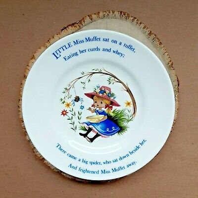 Miss Muffet 6.5  Plate Crown Staffordshire James Kent Nursery Rhyme Collectible • 6.09£