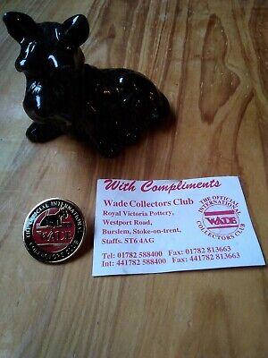 Wade Pottery Scottie Dog And Collectors Club Badge 1996-1997 • 12£