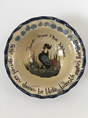 Rare - Watcombe Torquay - Motto Ware - Cockerel Design - Porridge /Sugar Bowl • 17.99£