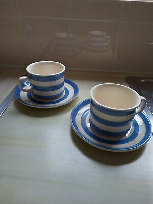T G Green Cornishware 2x Cup & Saucer • 9.99£