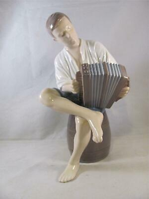 Vintage Bing & Grondahl B&G Figurine Merry Sailor Accordion 1661 Denmark 8.5 In • 57.50£