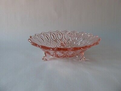 Vintage Pretty Pink Glass Footed Trinket Dish Bowl Vanity Great Lot  • 2.99£