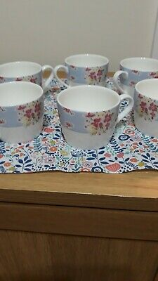 Marks And Spencer  Fine China Ditsy Floral-   6 X Cups. Vgc • 6£