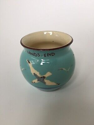 WATCOMBE - TORQUAY POTTERY -  SEAGULL MILK JUG - LANDS END - 8 Cms - EXC COND • 9£