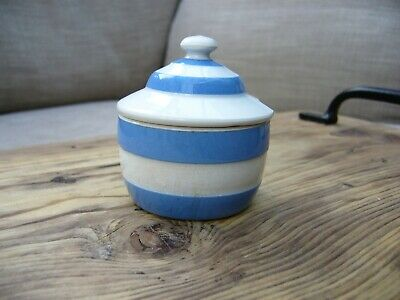Cornishware TG Green Condiment/Mustard Pot - Green Shield • 6.80£