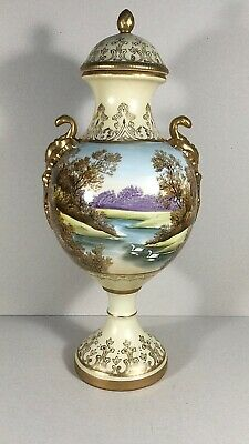19th Century Hand Painted Classical Scene Large Vase Staffordshire 14 Inches  • 80£