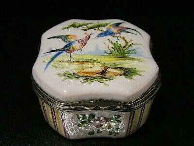 Signed Adolphe Porquier French Quimper Pottery Faience Trinket Box Antique 692 • 9.99£