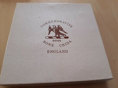 1989 Goss China 150th Anniversary Of Wiltshire Police Commemorative Plate-boxed • 4.99£