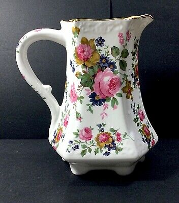 Fenton Bone China Floral Jug With Gold Trim • 8£