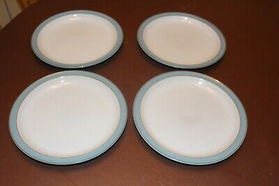 Denby Colonial Blue - 26cm Dinner Plates X4 - Good Condition • 31.31£