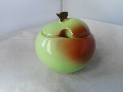 CARLTONWARE APPLE FRUIT  PRESERVE POT(8cms High) • 1.99£