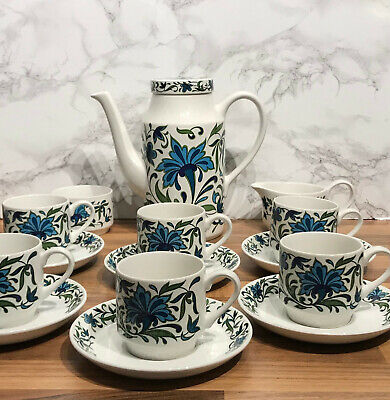 Midwinter Staffordshire Jessie Tait 15 Piece Coffee Espresso Set • 14.50£