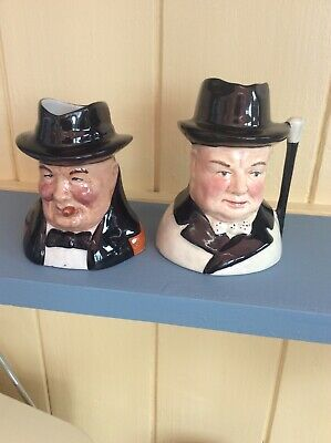 Small Winston Churchill Toby X2 Excellent Condition.no Damage.Royal Doulton • 35£