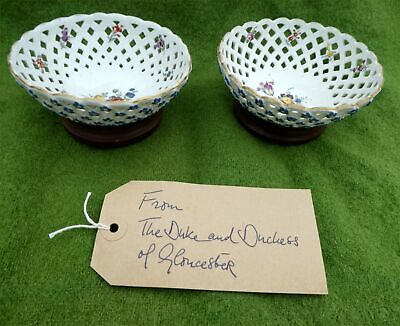 2 Meissen? Baskets - Given By The Duke & Duchess Of Gloucester To A Royal Doctor • 20£