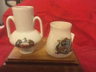 2 X Pieces Of W H Goss Crested Ware. • 2.60£