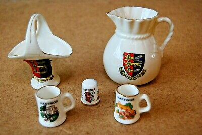 Collection Of Souvenir Hastings Crested China Items • 4.99£