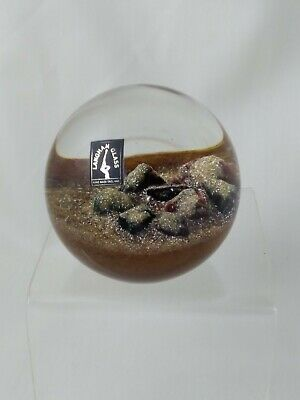 Langham Glass, Paul Miller, Desert Mystery, Paperweight, Limited Edition Signed • 48£