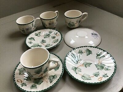 BHS Country Vine Coffee Cups And Saucers - Never Used, Still Have Shop Labels. • 19.99£