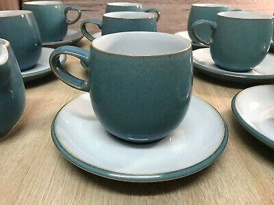 Denby Azure Tea/Coffee Cup With Saucer • 15.20£