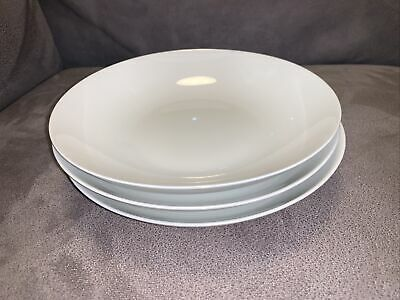 Thomas Germany, Medallion White Cereal/Soup Bowls X3,  19cm Dia, 4cm High • 15£