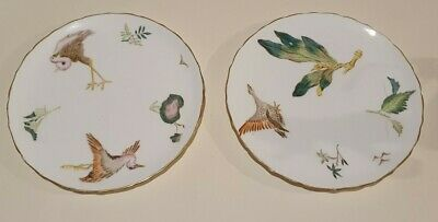 Pair Extremely Rare 9  George Jones & Sons Crescent China Plates Oriental 19th C • 40£
