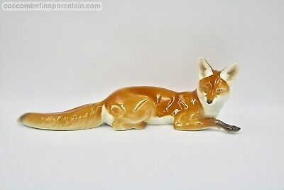 Superb Nymphenburg Porcelain Figurine Fox By T Karner Rare PERFECT Condition • 595£